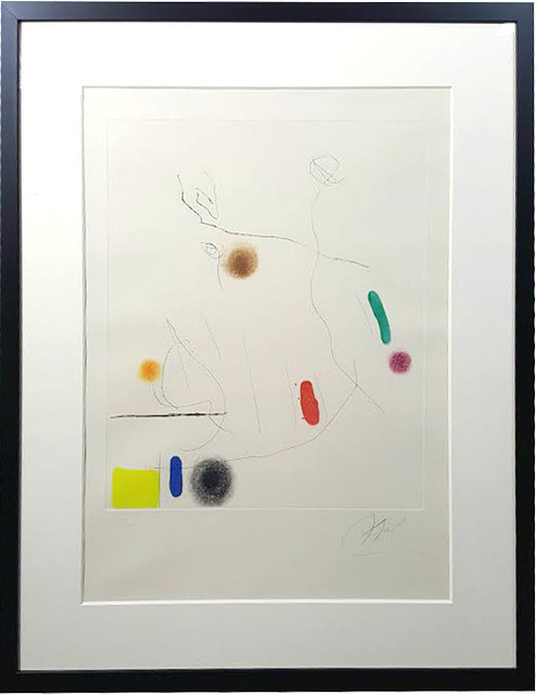 Joan Miró, 'Grave sur le givre I', 1972, Print, Etching and aquatint in colours on Arches paper, artrepublic