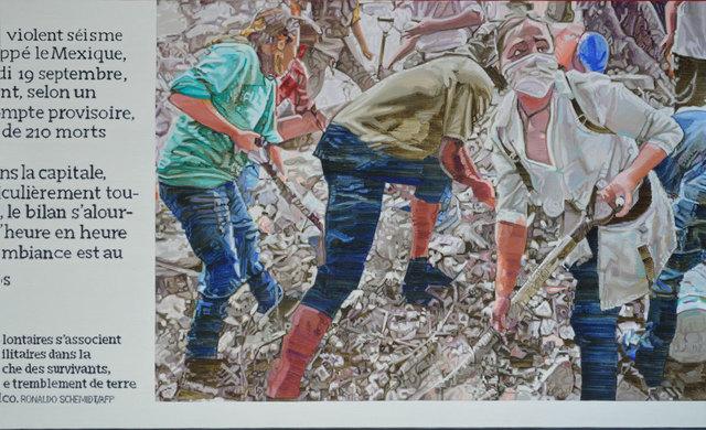 simeón saiz ruiz, 'TERREMOTO DE MÉJICO (segunda versión)', 2018, Painting, Oil on linen, F2 Galería