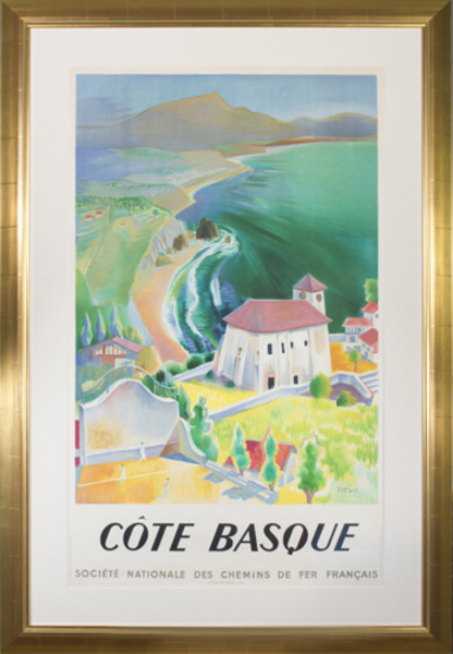 Vecoux, 'Cote Basque (Societe Nationale des Chemins de Fer Francais)', 1946, David Barnett Gallery