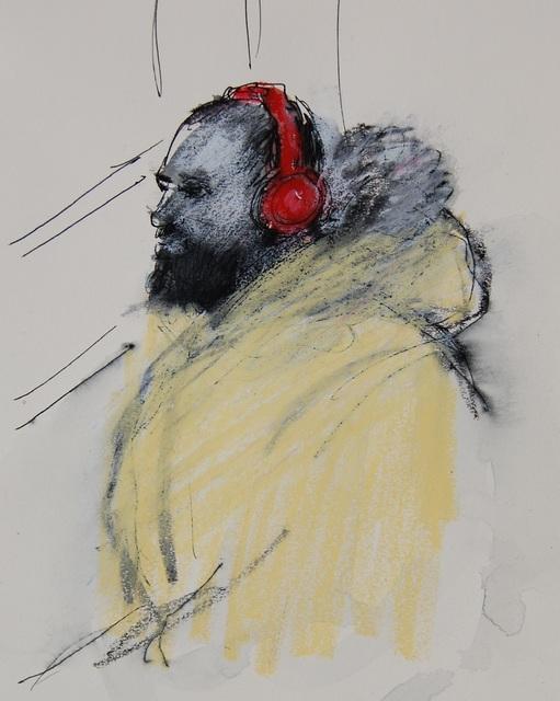 , 'Red Heaphones, Yellow Parka,' 2017, Ground Floor Gallery