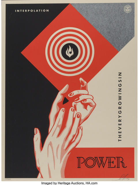 Shepard Fairey (OBEY), 'Interpolation, diptych', 2014, Heritage Auctions