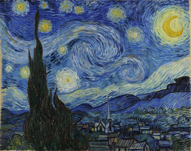 Vincent van Gogh, 'Starry Night', 1889, Painting, Oil on canvas, The Museum of Modern Art