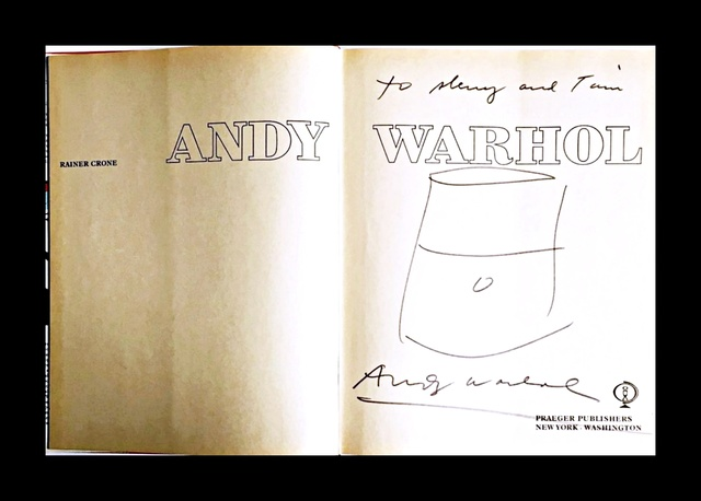 Andy Warhol, 'Original Soup Can Drawing, inscribed to Warhol pal and Rock & Roll hall of famer', ca. 1985, Alpha 137 Gallery