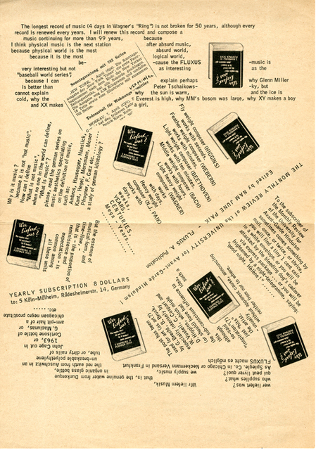 , 'New Ontology of Music,' 1963, Nam June Paik Art Center