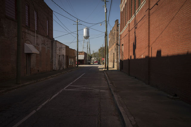 , 'Late Harvest: Street and Water Tower, Quitman, Georgia,' 2017-printed 2018, Thomas Deans Fine Art