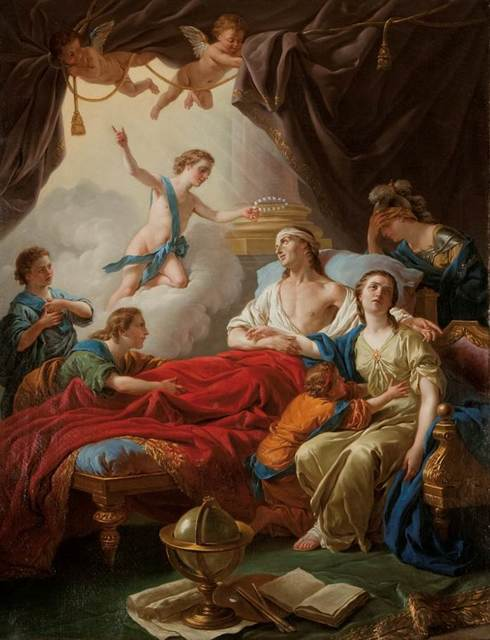 , 'Allégorie à la mort du dauphin (Allegory on the Death of the Dauphin),' 1765, Château de Fontainebleau