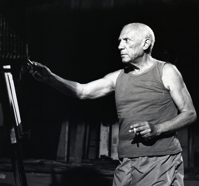 , 'Picasso during Le Mystere Picasso, Nice,' ca. 1955, Suite 59 Gallery