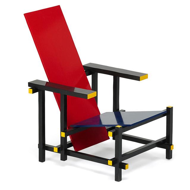 Gerrit Thomas Rietveld, 'Red Blue chair, Italy', 1980s, Rago/Wright