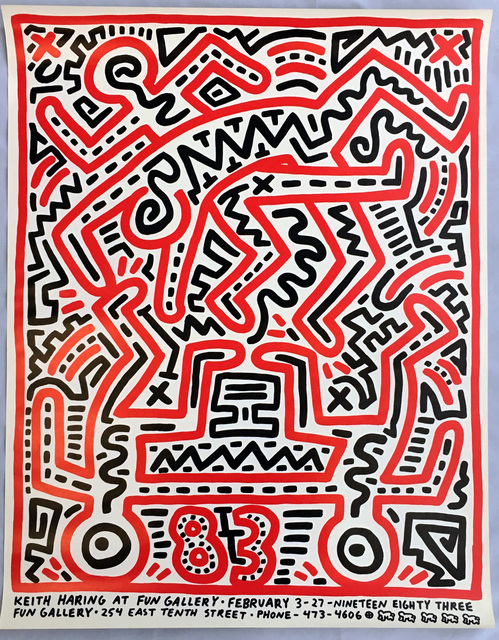 Keith Haring, 'Keith Haring 1983 Fun Gallery exhibition poster ', 1983, Lot 180