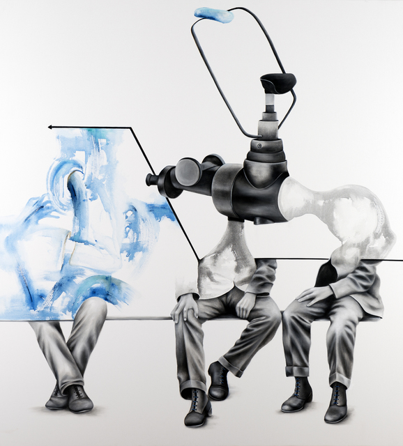 , 'Men in Blue Suits,' 2014, Galeri Nev Istanbul