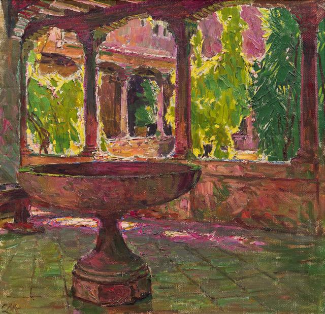 , 'Cloister in the monastery San Gregorio in Venice,' 1922, Galerie Kovacek