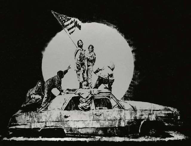 Banksy, 'Silver Flag', 2006, Wallector