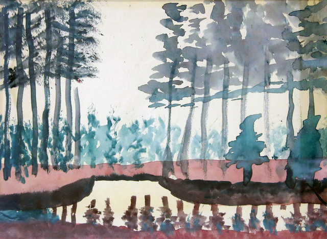 , 'Trees near Canal,' ca. 1925, Edward Thorp Gallery