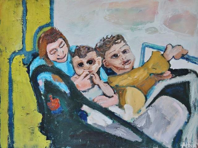Alex Hain, 'Bus journey', 2019, Castlegate House Gallery