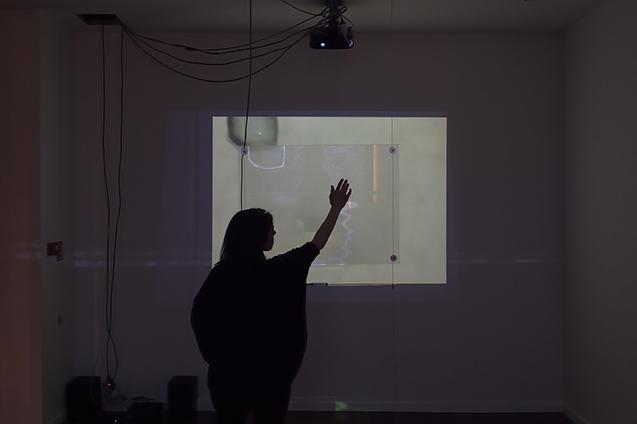 Thierry Kuntzel, Title TK installation, 2015, creation