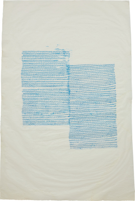 Ellen Gallagher, 'Untitled', 1997, Print, Unique monoprint of ink transfer in colors, on Misu paper, with full margins., Phillips