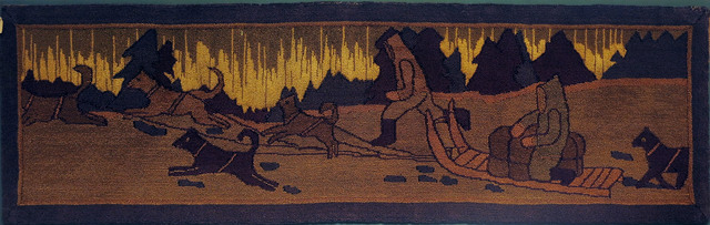 , 'Dog Team with Northern Lights,' 1930, Edward Thorp Gallery