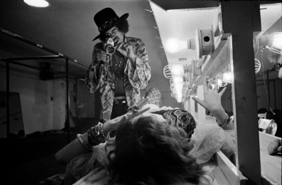 Jimi Hendrix Filming Janis Joplin Backstage Winterland, San Fransisco, 1968