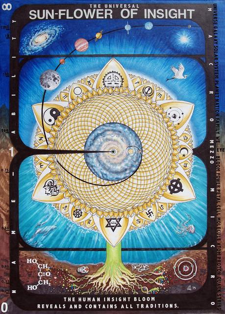 , 'Sun Flower of Insight (after Paul Laffoley),' 2013, Avenue 12 Gallery