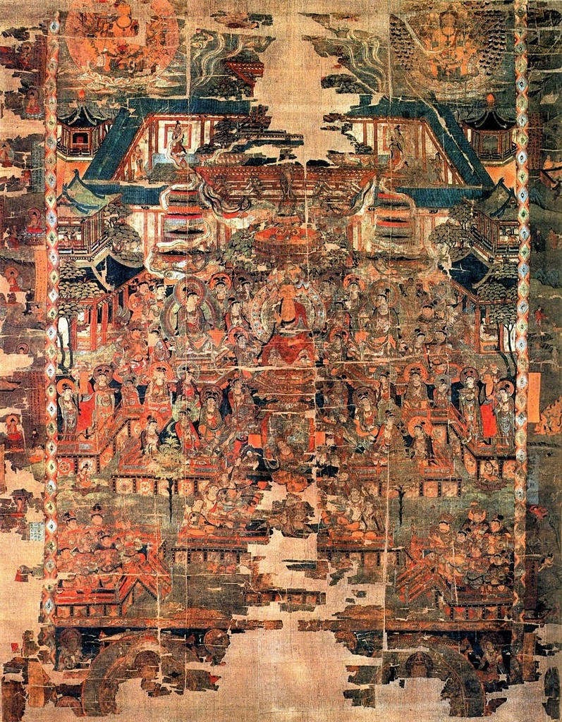 Paradise of Bhaishajyaguru, Tang dynasty, from Cave 17, Mogao, near Dunhuang, Gansu province, China