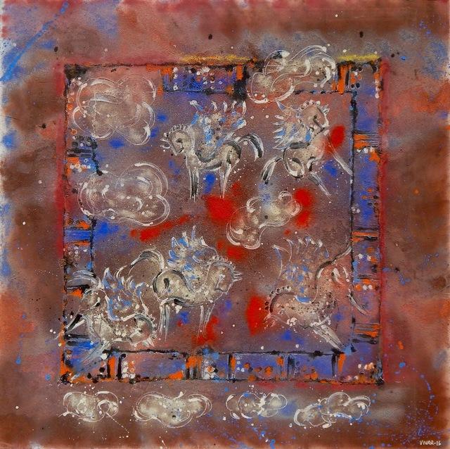 Carlos Vivar, 'Caballos en las nubes', 2016, Aura Galerias