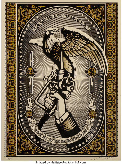 Shepard Fairey (OBEY), 'Operation Oil Freedom (Gold)', 2007, Heritage Auctions