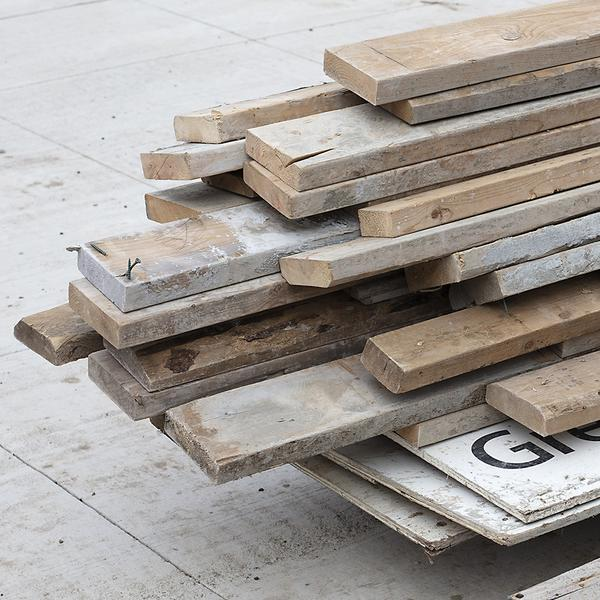 , 'Wooden Concrete Forms,' 2018, Bau-Xi Gallery