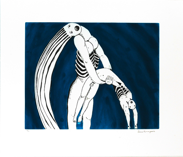 Louise Bourgeois, 'Triptych for the Red Room', 1994, Print, Aquatint, drypoint, and engraving, Peter Blum Gallery