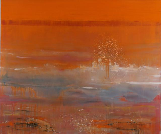 , 'Orange Wave,' 2015, James May Gallery