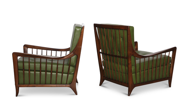 Paolo Buffa, 'Rare Pair of Open Arm Lounge Chairs', ca. 1952, Donzella LTD