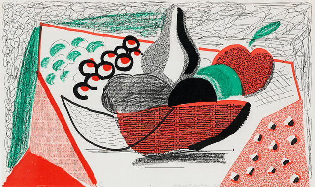 David Hockney, 'Apples Pears & Grapes, May 1986', 1986, Kenneth A. Friedman & Co.