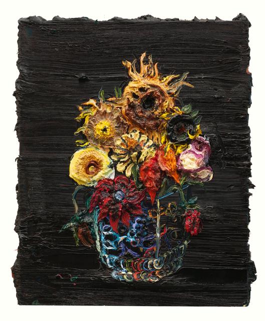 Allison Schulnik, 'October Flowers #3', 2012, Mark Moore Fine Art