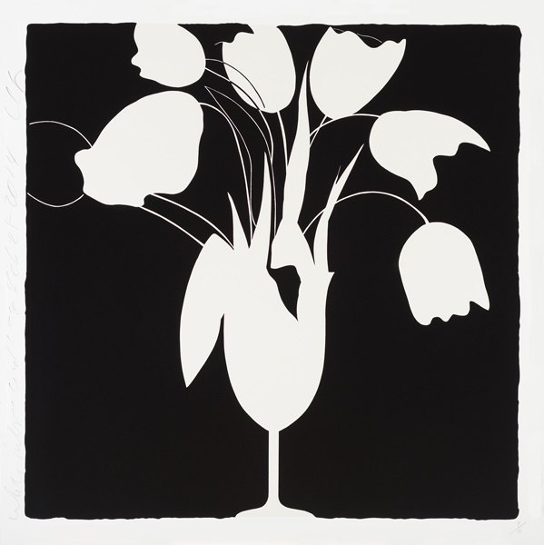 Donald Sultan, 'White Tulips and Vase, Feb 25, 2014, ed. of 50', 2014, Tayloe Piggott Gallery