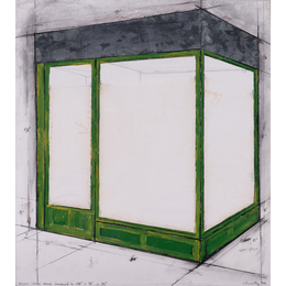 """Green store front (project) n. 138"""" x 98"""" x 12"""""""