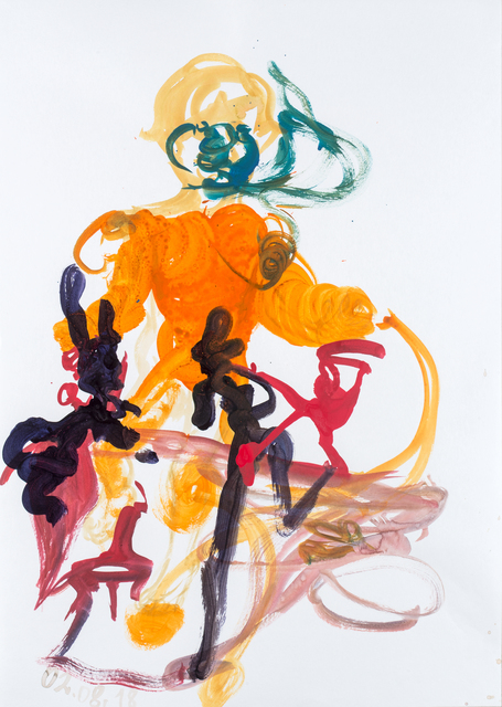 Gintaras Makarevicius, 'Untitled', 2018, Painting, Ink on paper, Meno niša Gallery