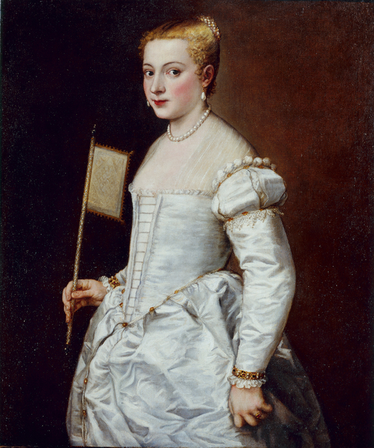 Titian, 'Portrait of a Lady in White', about 1555, Belvedere Museum