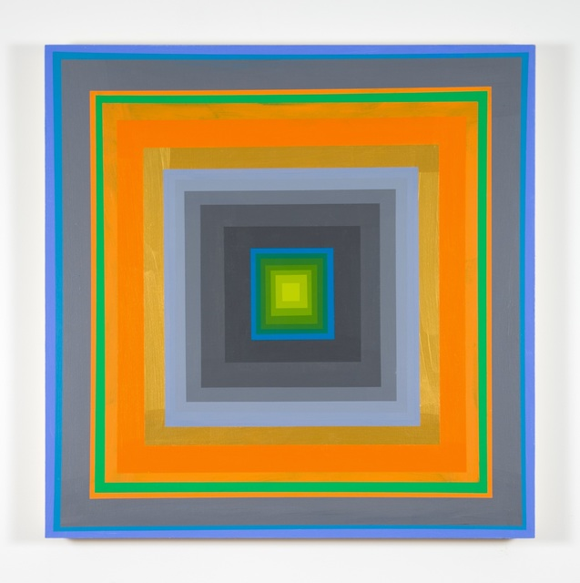Gary Lang, 'CONCENTRICSQUARESIX', 2020, Painting, Acrylic on panel, McClain Gallery