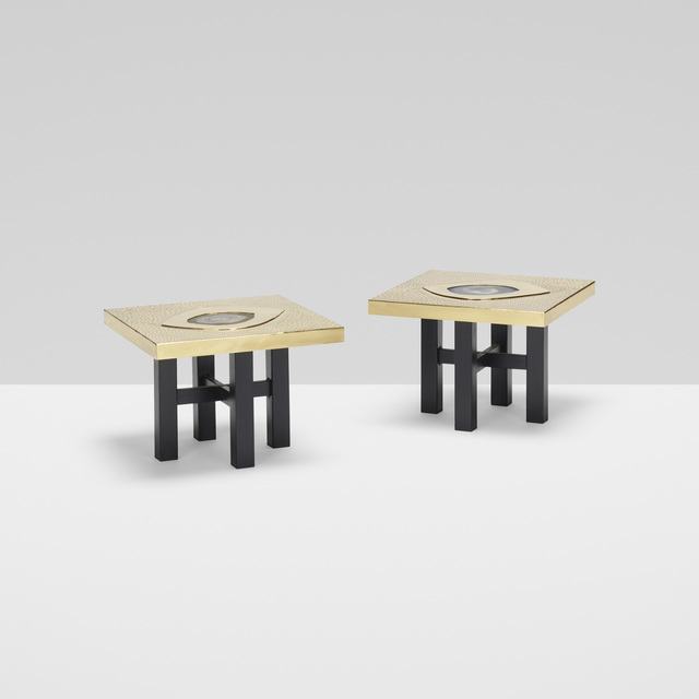 Willy Daro, 'occasional tables, pair', c. 1975, Wright