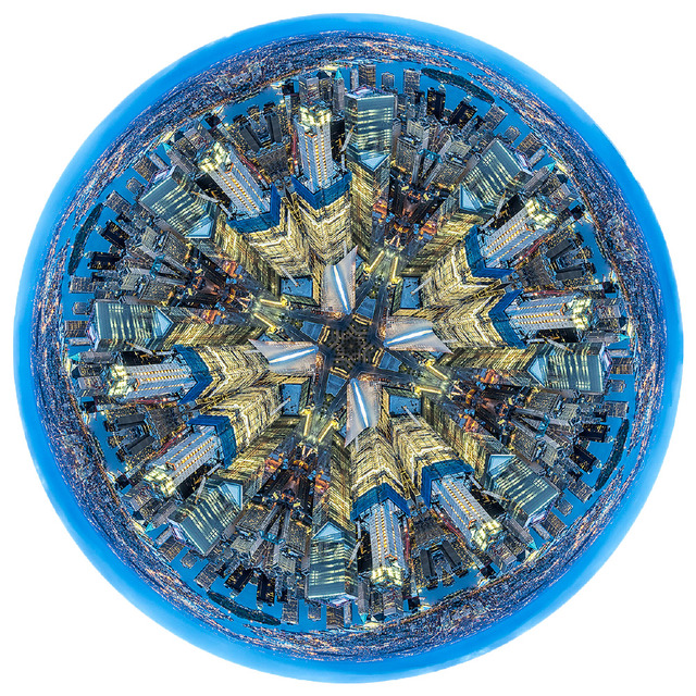 , ' Wall Street Golden Blue Mandala (New York),' 2016, Galeria Otros 360º
