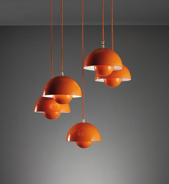 """Verner Panton, 'Set of five """"Flower Pot"""" ceiling lights, model no. 16562', circa 1968, Phillips"""
