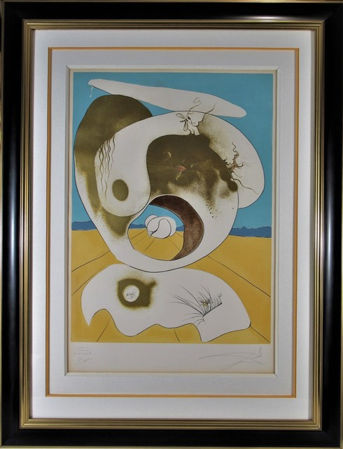 Salvador Dalí, 'Planetary and Scatologic Vision', 1974, Print, Engraving with embossing and color lithograph, Joseph Grossman Fine Art Gallery