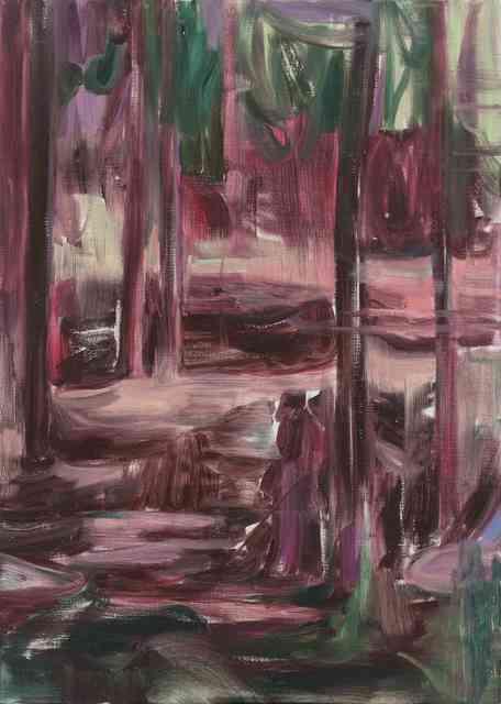 , '林中人D A Figure in the Woods D,' 2017, Matthew Liu Fine Arts