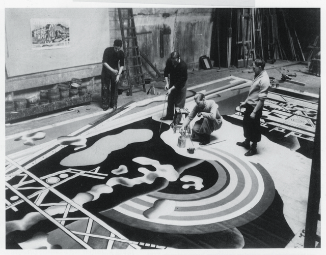 , 'Fernand Léger and his students completing Le Transport des forces (Transport of Forces) for the Palais de la Découverte (Palace of Discovery), Exposition Internationale des Arts et Techniques (International Exhibition of Arts and Techniques), Paris,' 1937, Museum Ludwig