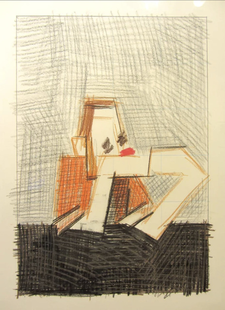 Michael Hurson, 'Study for portrait of Robert Moskowitz', 1976, Drawing, Collage or other Work on Paper, Pastel, colored pencil, graphite on paper, Adam Baumgold Gallery