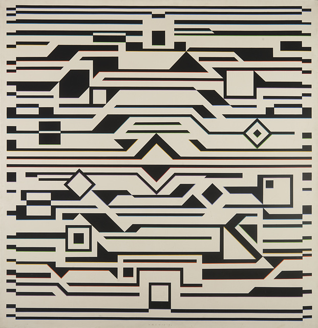 Victor Vasarely, 'GIZEH-K', 1957-1972, Painting, Acrylic on canvas, Il Ponte