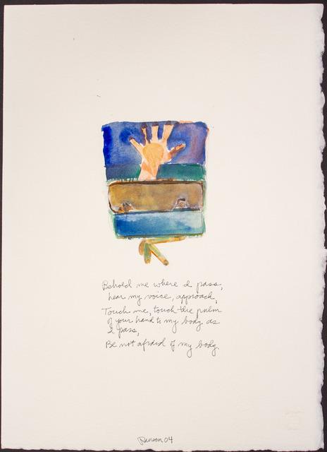 , 'Behold me where I pass...,' 2004, BlackBook Presents