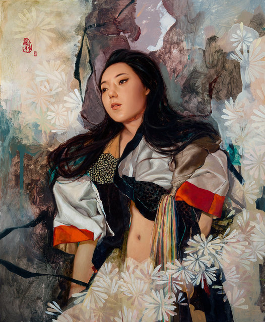 "Soey Milk, '""Narisa with Flowers""', 2015, Hashimoto Contemporary"