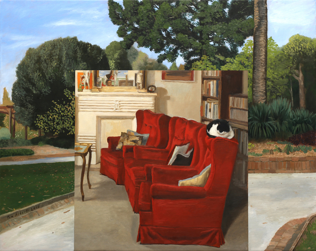 Tom Alberts, 'Park and Lounge', 2016, Painting, Oil on linen, Charles Nodrum Gallery