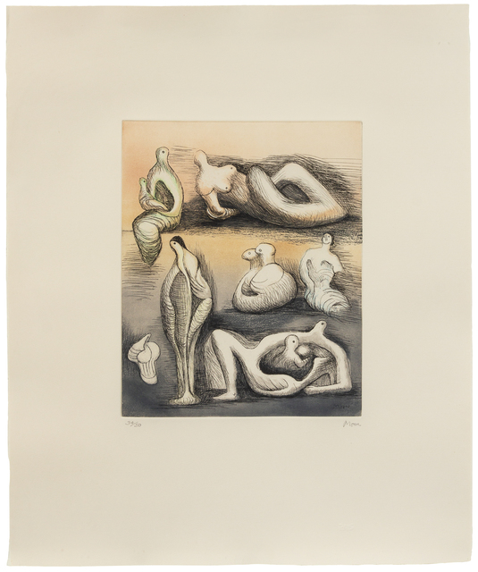 Henry Moore, 'Sculpture Ideas', 1982, Print, Etching and aquatint, Hindman