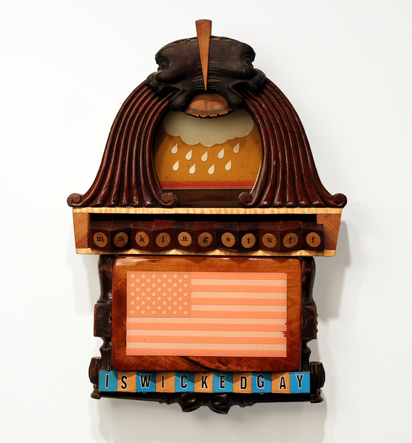 Mac Premo, 'MAKING STUFF IS WICKED GAY', 2010, Mixed Media, Mixed media assemblage, Independent Curators International (ICI) Benefit Auction
